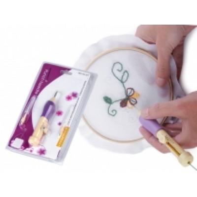 Dutá ihla / vyšívacie pero - sada na vyšívanie