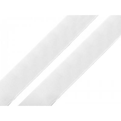 Suchý zips samolepiaci šírka 20 mm biely háčik