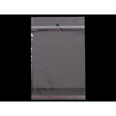 Sáčky lesklé s lepiacou lištou a závesom 13x14cm