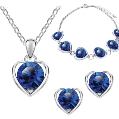 Set Love Heart modrý