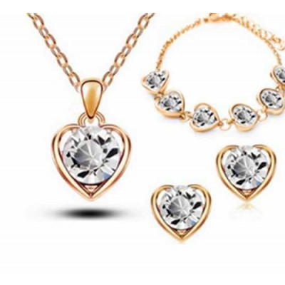 Set Love Heart crystal