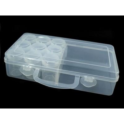 Zásobník plastový 60x130X260mm na korálky s dózičkami