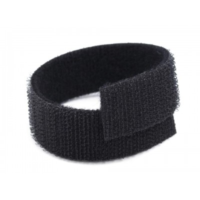 Suchý zips šírka 20 mm čierny obojstranný