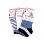 Dámske bavlnené ponožky členkové