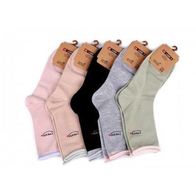 Dámske bavlnené ponožky so zdravotným lemom