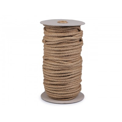 Jutová šnúra pletená Ø6 mm