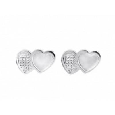 Náušnice z nerezovej ocele mini srdce