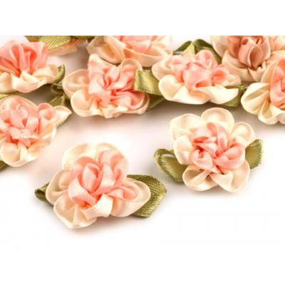 Saténový kvet 22x35 mm