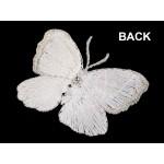 Textilná aplikácia motýľ s perlami vyšívaný veľký