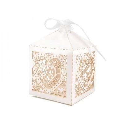 Papierová krabička 5,5x5,5 cm so stuhou