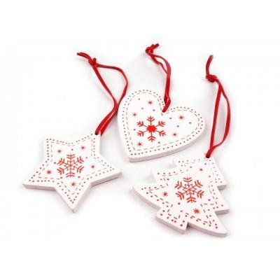 Drevená vianočná dekorácia
