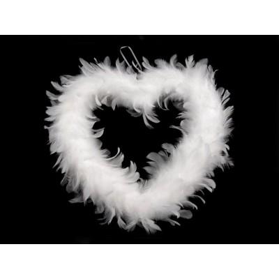Dekorácia srdce z peria