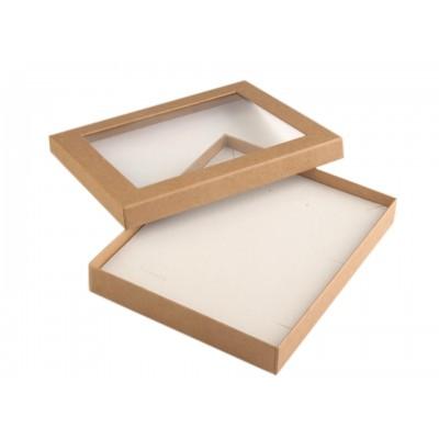 Krabička darčeková s priehľadom 16x19,5 cm