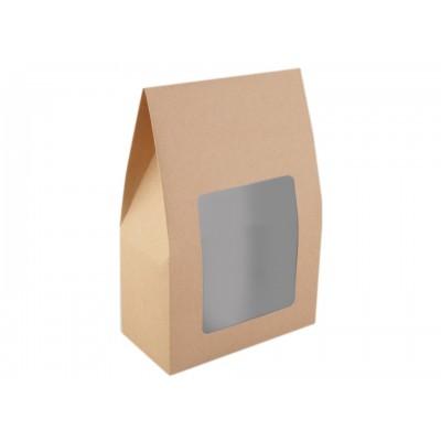 Papierová krabica 16x23,5 cm s priehľadom