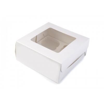 Papierová krabice 16x16 cm s priehľadom