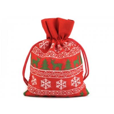 Darčekové vianočné vrecko 12,5x17,5 cm