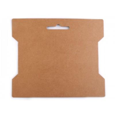 Papierová karta natural 14x16,3 cm s výrezom