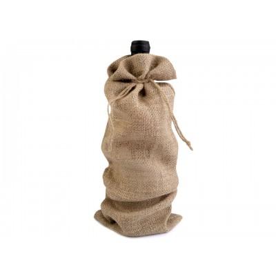 Jutové vrecúško na flašku 15x44 cm