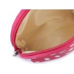 Kozmetická taška priehľadná, prúžkovaná a bodkovaná, sada 3 ks