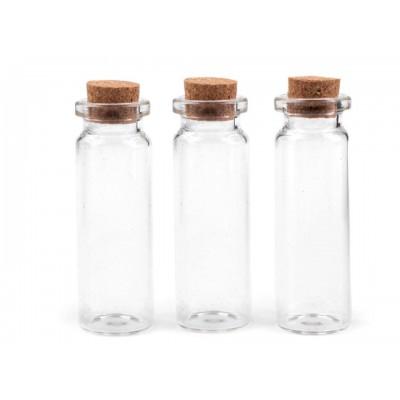 Sklenená fľaštička s korkom 20x60 mm