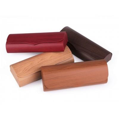 Puzdro na okuliare imitácia dreva 6x16 cm