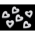 Drevené srdce na nalepenie