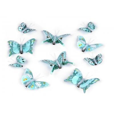 Dekorácia motýľ 3D s klipom