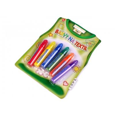 Farba na textil 6 ks
