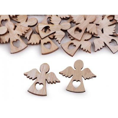 Samolepiaci drevený anjel