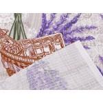 Bavlnené vaflové piké levanduľa