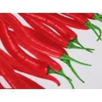 Bavlnené vaflové piké chilli papričky